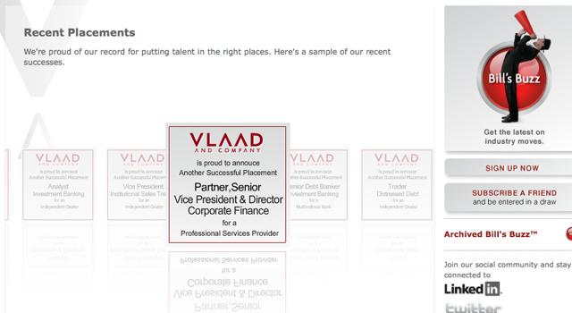 VLAAD AND COMPANY website & Billsbuzz e-newsletter